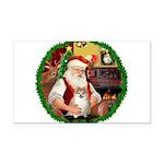 Santa's Pomeranian #1 Rectangle Car Magnet