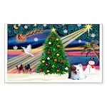 XmasMagic/ Pomeranian Sticker (Rectangle 10 pk)