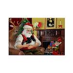Santa's Pomeranian Rectangle Magnet