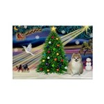XmasMagic/ Pomeranian Rectangle Magnet (10 pack)