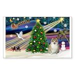 XmasMagic/ Pomeranian Sticker (Rectangle 50 pk)