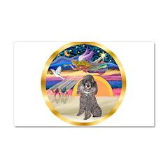 XmasStar/Silver Poodle #8 Car Magnet 20 x 12