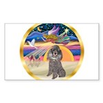 XmasStar/Silver Poodle #8 Sticker (Rectangle 50 pk