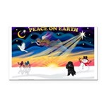XmasSunrise/Poodle (min) Rectangle Car Magnet