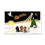 Night Flight/4 Poodles Rectangle Car Magnet