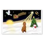 Night Flight/Apricot Poodle ( Sticker (Rectangle 1