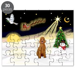 Night Flight/Apricot Poodle ( Puzzle