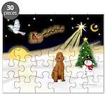 Night Flight/Std Poodle (blk) Puzzle