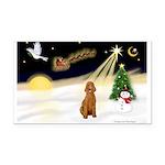 Night Flight/Std Poodle (blk) Rectangle Car Magnet