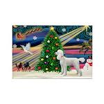 Xmas Magic & Poodle Rectangle Magnet (10 pack)