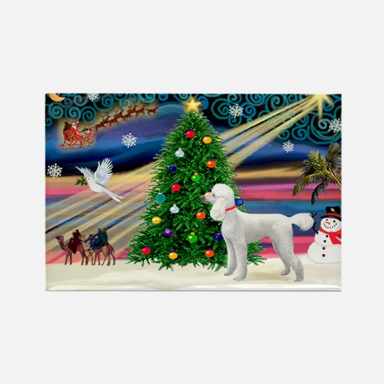 Xmas Magic & Poodle Rectangle Magnet