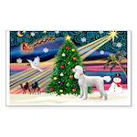 Xmas Magic & Poodle Sticker (Rectangle 50 pk)