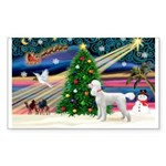 Xmas Magic & Poodle Sticker (Rectangle)