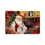 Santa's Std Poodle(w) Rectangle Magnet (10 pack)