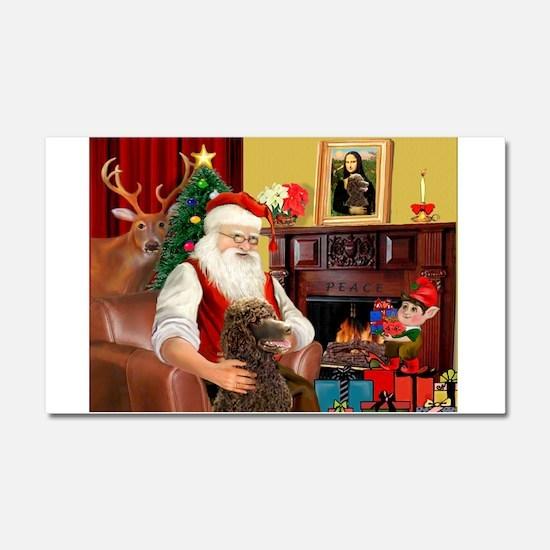 Santa's Std Poodle(c) Car Magnet 20 x 12