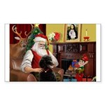 Santa's Poodle (ST-B4) Sticker (Rectangle)