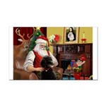 Santa's Poodle (ST-B4) Rectangle Car Magnet