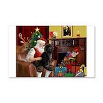 Santa's PWD Car Magnet 20 x 12