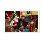 Santa's PWD Rectangle Car Magnet
