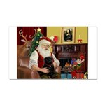 Santa's Black Pug Car Magnet 20 x 12
