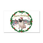 XmasMusic1MC/Pug 11 Car Magnet 20 x 12