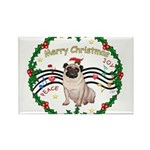 XmasMusic1MC/Pug 11 Rectangle Magnet (10 pack)