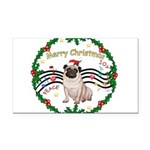 XmasMusic1MC/Pug 11 Rectangle Car Magnet