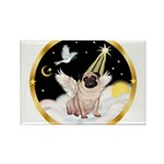 Night Flight/ Pug Rectangle Magnet
