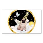 Night Flight/ Pug Sticker (Rectangle 10 pk)
