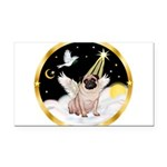 Night Flight/ Pug Rectangle Car Magnet