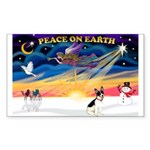 XmasSunrise/Rat Ter #1 Sticker (Rectangle 10 pk)