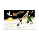 Night Flight/Rat Terrier Rectangle Car Magnet