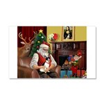 Santa's Rat Terrier Car Magnet 20 x 12
