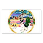 XmasMagic/Rat Terrier Sticker (Rectangle 50 pk)