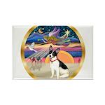 XmasStar/Rat Terrier Rectangle Magnet (10 pack)