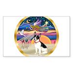 XmasStar/Rat Terrier Sticker (Rectangle 50 pk)