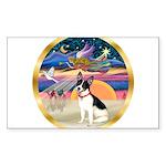 XmasStar/Rat Terrier Sticker (Rectangle 10 pk)