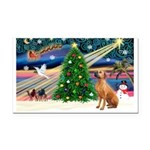 XmasMagic/Rhodesian RB Rectangle Car Magnet