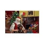 Santa's Rottweiler Rectangle Magnet