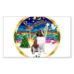 XmasMusic 3/ St Bernard #1 Sticker (Rectangle 50 p
