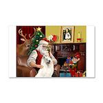 Santa's Samoyed Car Magnet 20 x 12