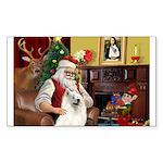 Santa's Samoyed Sticker (Rectangle 50 pk)