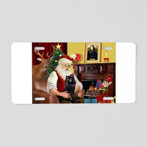 Santa's Schipperke Aluminum License Plate