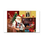 Santa's 2 Schnauzers Car Magnet 20 x 12