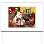 Santa's 2 Schnauzers Yard Sign