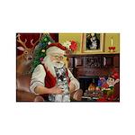 Santa's Mini Schnauzer Rectangle Magnet (10 pack)