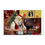 Santa's Mini Schnauzer Sticker (Rectangle 50 pk)