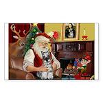 Santa's Mini Schnauzer Sticker (Rectangle)