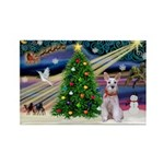 XmasMagic/Min Schnauzer Rectangle Magnet (10 pack)