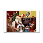 Santa / 2 Shelties (dl) Car Magnet 20 x 12